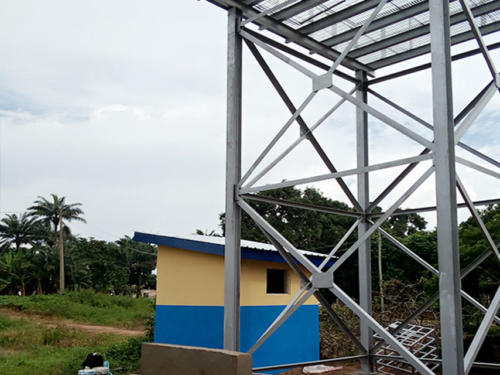 Construction of a Water Tower for the Solar Powered Borehole
