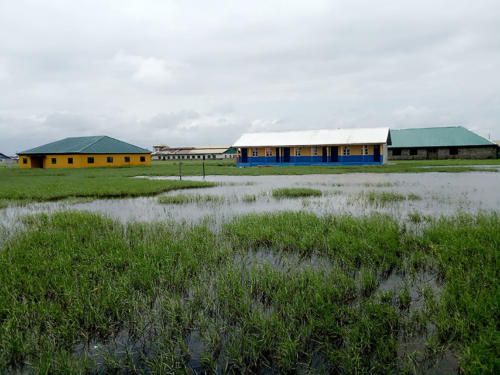 Construction of a School Block in one of the Waterlogged Areas in Ondo State