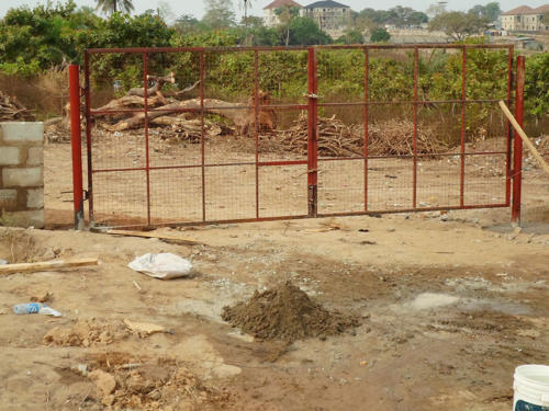 Erection of Temporary Fences and Gate