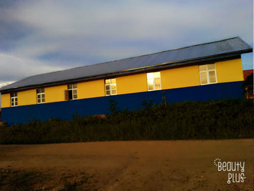 Evening Shot of the Newly Constructed School Block
