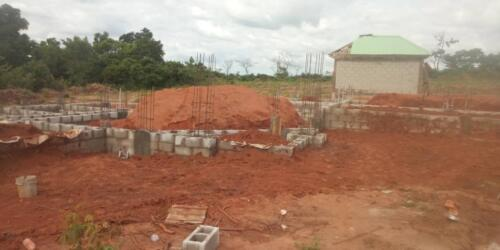 Filling of the Foundation with Laterite (Final Phase)