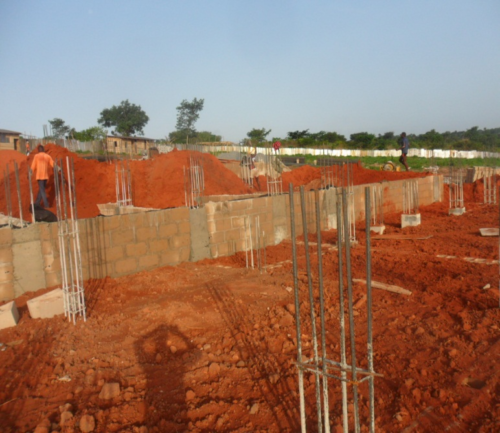 Laterite Filling of the Foundation